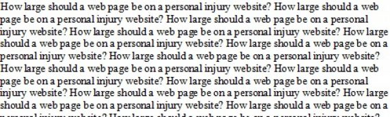 How Large Should Practice Area Pages be on Personal Injury Websites?