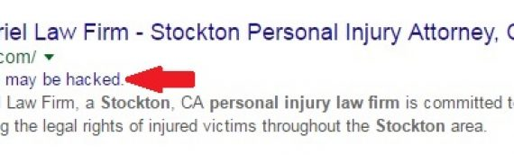 Hacked Personal Injury Law Firm Website Bad for SEO