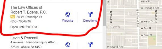 Ads in Google Maps for Personal Injury Lawyers